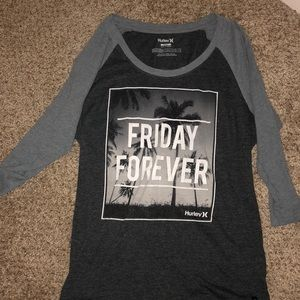 Hurley Friday Forever 3/4 sleeve tee